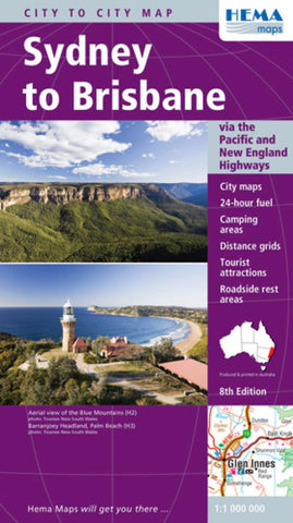 Buy map Sydney to Brisbane, Australia by Hema Maps