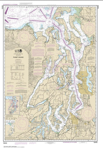 Buy map Puget Sound (18440-30) by NOAA