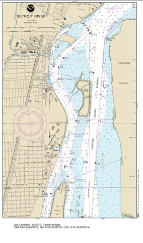 Buy map SMALL-CRAFT BOOK CHART - Detroit River, Lake St. Clair and St. Clair River (book of 47 charts) (14853-17) by NOAA