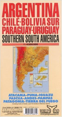 Buy map South America, Southern by Zagier y Urruty