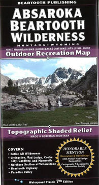 Buy map Absaroka Beartooth Wilderness, Montana and Wyoming by Beartooth Publishing