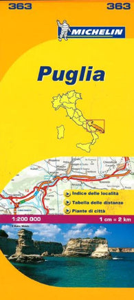 Buy map Puglia, Italy (363) by Michelin Maps and Guides