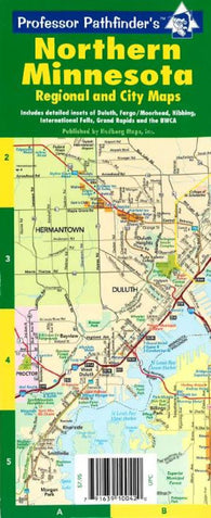 Buy map Minnesota, North, laminated by Hedberg Maps