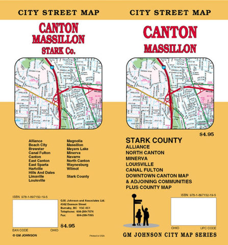 Buy map Canton, Massillon and Stark County, Ohio by GM Johnson