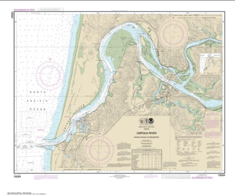 Buy map Umpqua River Pacific Ocean to Reedsport (18584-48) by NOAA