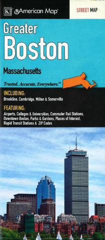 Buy map Boston, Greater by Kappa Map Group