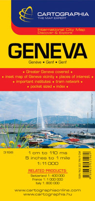 Buy map Geneva, Switzerland by Cartographia