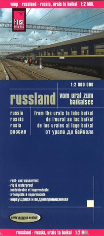 Buy map Russia, from the Urals to Lake Baikal by Reise Know-How Verlag