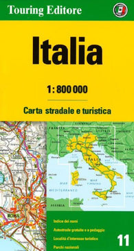 Buy map Italy by Touring Club Italiano