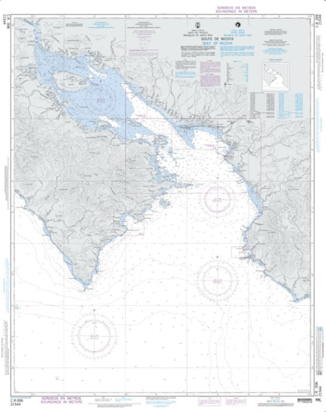 Buy map C.R. 006, Gulf Of Nicoya (NGA-21544-20) by National Geospatial-Intelligence Agency
