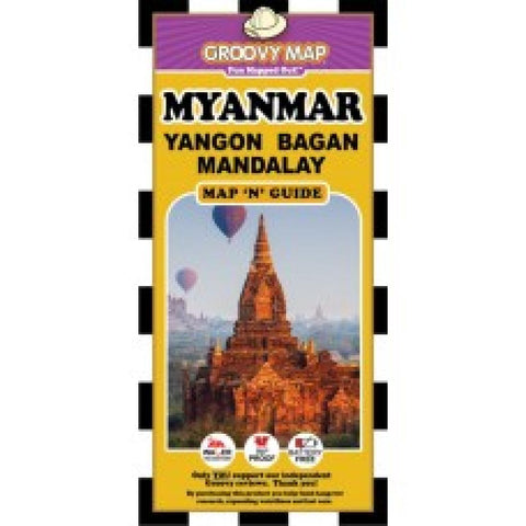 Buy map Myanmar, Yangon, Bagan and Mandalay, Map n Guide by Groovy Map Co.