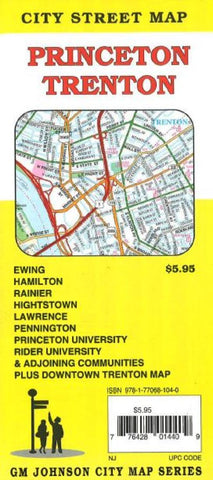 Buy map Princeton and Trenton New Jersey by GM Johnson