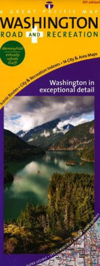 Buy map Washington, Road and Recreation, laminated by Great Pacific Recreation & Travel Maps