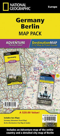 Buy map Germany & Berlin Map Pack Bundle by National Geographic Maps