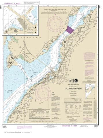 Buy map Fall River Harbor; State Pier (13227-15) by NOAA