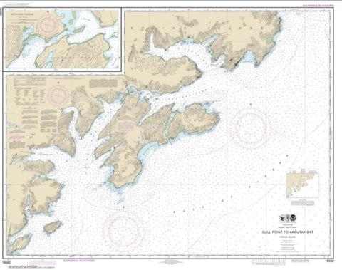 Buy map Kodiak Island Gull Point to Kaguyak Bay; Sitkalidak Passage (16592-11) by NOAA
