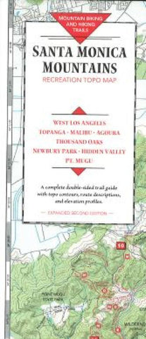 Buy map Santa Monica Mountains, California by Fine Edge