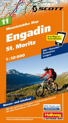 Buy map Engadin and St Moritz Mountainbike Map by Hallwag