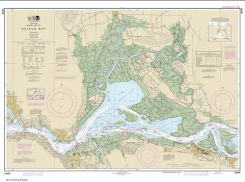 Buy map Suisun Bay (18656-56) by NOAA