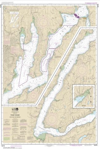 Buy map Puget Sound-Hood Canal and Dabob Bay (18476-6) by NOAA