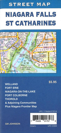 Buy map Niagara Falls & St. Catharines Street Map by GM Johnson