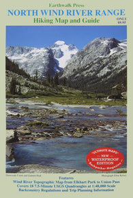 Buy map Wind River Range, Wyoming, Northern, waterproof by Earthwalk Press