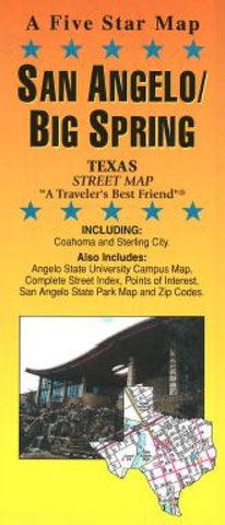 Buy map San Angelo and Big Spring, Texas by Five Star Maps, Inc.
