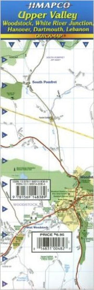 Buy map Upper Valley, Vermont and New Hampshire by Jimapco