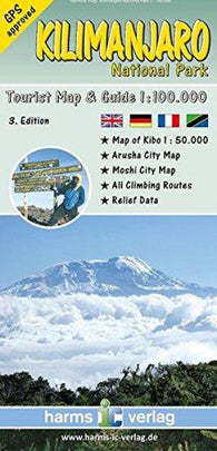 Buy map Kilimanjaro National Park, Tourist Map and Guide by Harms IC Verlag