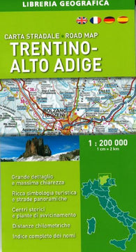 Buy map Trentino-Alto Adige, Italy, Road Map by Libreria Geografica