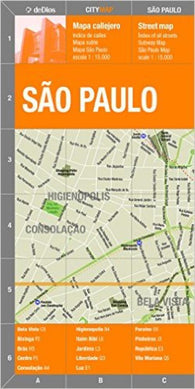 Buy map Sao Paulo, Brazil by deDios