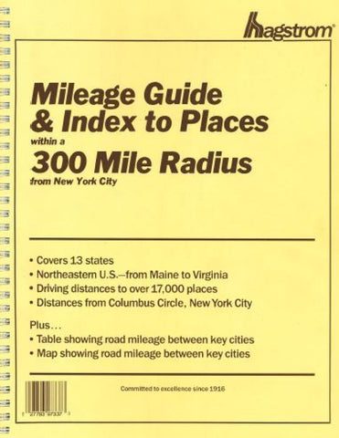 Buy map New York City, New York, 300-Mile Radius Index/Guide by Kappa Map Group