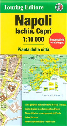 Buy map Naples, Italy by Touring Club Italiano