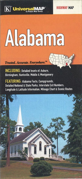 Buy map Alabama by Kappa Map Group