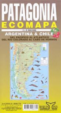 Buy map Patagonia Ecomapa by Zagier y Urruty