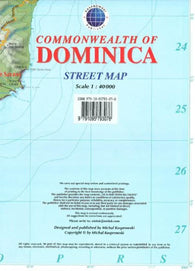 Buy map Dominica, Commonwealth of, Caribbean, Street Map by Kasprowski Publisher