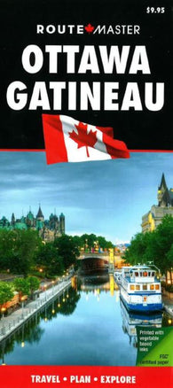 Buy map Ottawa, ON, and Gatineau, QC, Laminated Quick Fold by Route Master