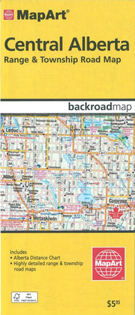 Buy map Central Alberta Range & Township Road Map by Canadian Cartographics Corporation, MapArt Corporation, Peter Heiler Ltd.