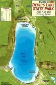 Buy map Devils Lake State Park Fish Card by Frankos Maps Ltd.