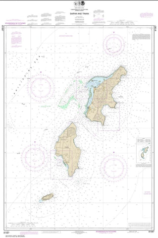 Buy map Commonwealth of the Northern Mariana Islands Saipan and Tinian (81067-9) by NOAA