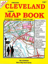 Buy map Cleveland, Ohio, Street Map Book by GM Johnson