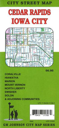 Buy map Cedar Rapids and Iowa City by GM Johnson
