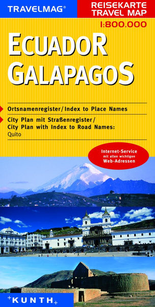 Buy map Ecuador and the Galapagos by Kunth Verlag