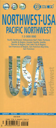Buy map United States, Pacific Northwest by Borch GmbH.