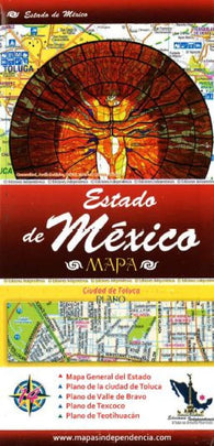 Buy map Estado de Mexico (Edomex), Mexico, State and Major Cities Map by Ediciones Independencia
