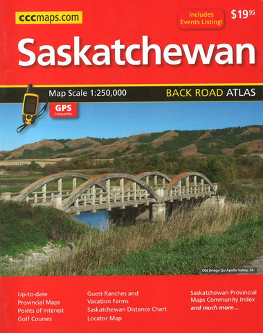 Buy map Saskatchewan Back Road Atlas by Canadian Cartographics Corporation