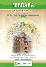 Buy map Ferrara, Italy by Litografia Artistica Cartografica