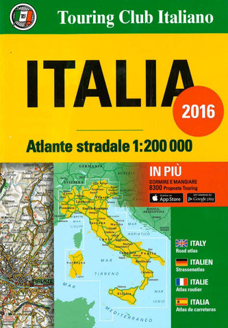 Buy map Italy, Road Atlas by Touring Club Italiano