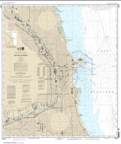 Buy map Chicago Harbor (14928-23) by NOAA
