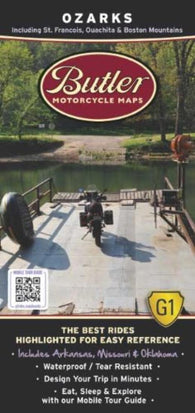 Buy map Ozarks by Butler Motorcycle Maps